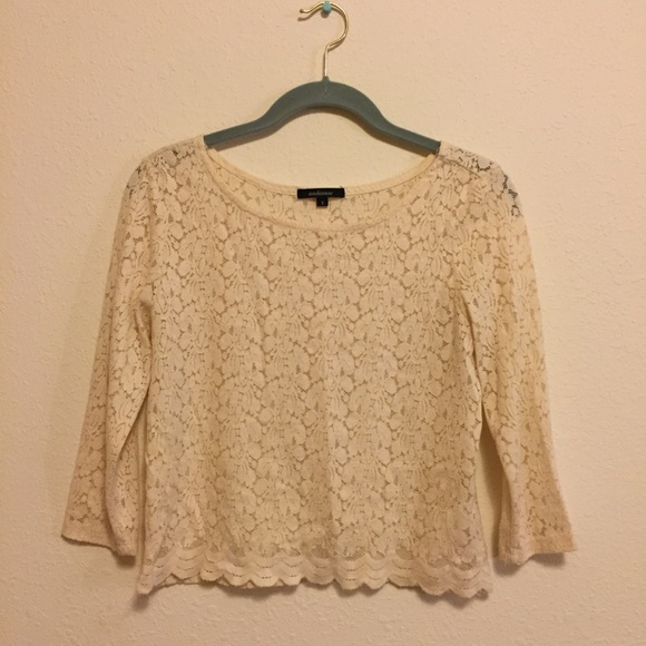 Ambiance Tops - Lace Crop Shirt